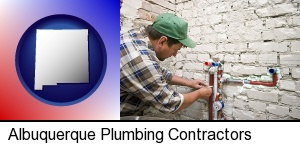 Albuquerque, New Mexico - a plumbing contractor installing new water supply lines