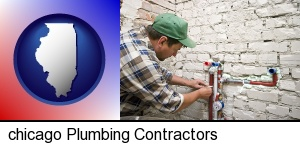 Chicago, Illinois - a plumbing contractor installing new water supply lines