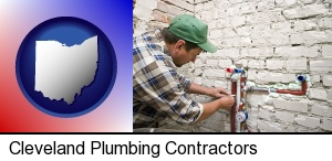 Cleveland, Ohio - a plumbing contractor installing new water supply lines