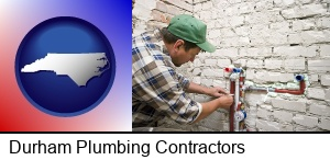 Durham, North Carolina - a plumbing contractor installing new water supply lines