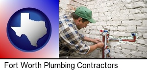 Fort Worth, Texas - a plumbing contractor installing new water supply lines