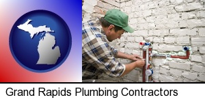 Grand Rapids, Michigan - a plumbing contractor installing new water supply lines