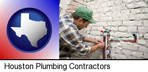 Houston, Texas - a plumbing contractor installing new water supply lines