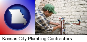 Kansas City, Missouri - a plumbing contractor installing new water supply lines