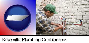 Knoxville, Tennessee - a plumbing contractor installing new water supply lines