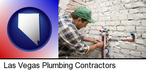 Las Vegas, Nevada - a plumbing contractor installing new water supply lines