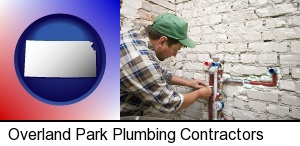 Overland Park, Kansas - a plumbing contractor installing new water supply lines