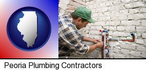 a plumbing contractor installing new water supply lines in Peoria, IL