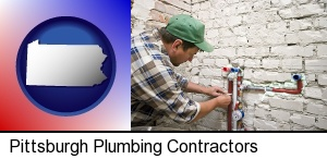 Pittsburgh, Pennsylvania - a plumbing contractor installing new water supply lines