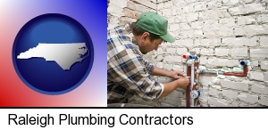 Raleigh, North Carolina - a plumbing contractor installing new water supply lines