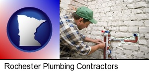 Rochester, Minnesota - a plumbing contractor installing new water supply lines