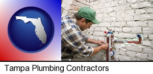 Tampa, Florida - a plumbing contractor installing new water supply lines