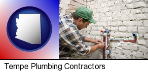 Tempe, Arizona - a plumbing contractor installing new water supply lines