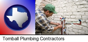 Tomball, Texas - a plumbing contractor installing new water supply lines